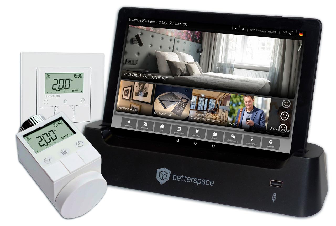BU: iQ Roomcontrol und iQ Tab von Betterspace (Foto: Betterspace GmbH)