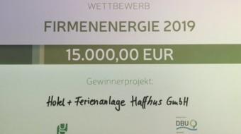 15.000 Euro für das Energiekonzept der Zukunft – Haffhus gewinnt Wettbewerb Firmenenergie!