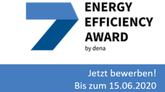 Jetzt bewerben: Energy Efficiency Award 2020