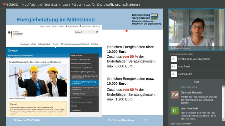 BU_Dr.-Beatrix-Romberg-erläutert-aktuelle-Förderprogramme-im-Energiebereich-Foto_LEKA-MV