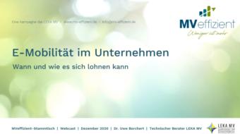 MVeffizient-Webcast Tapetenwechsel – Heute: E-Mobilität im Unternehmen