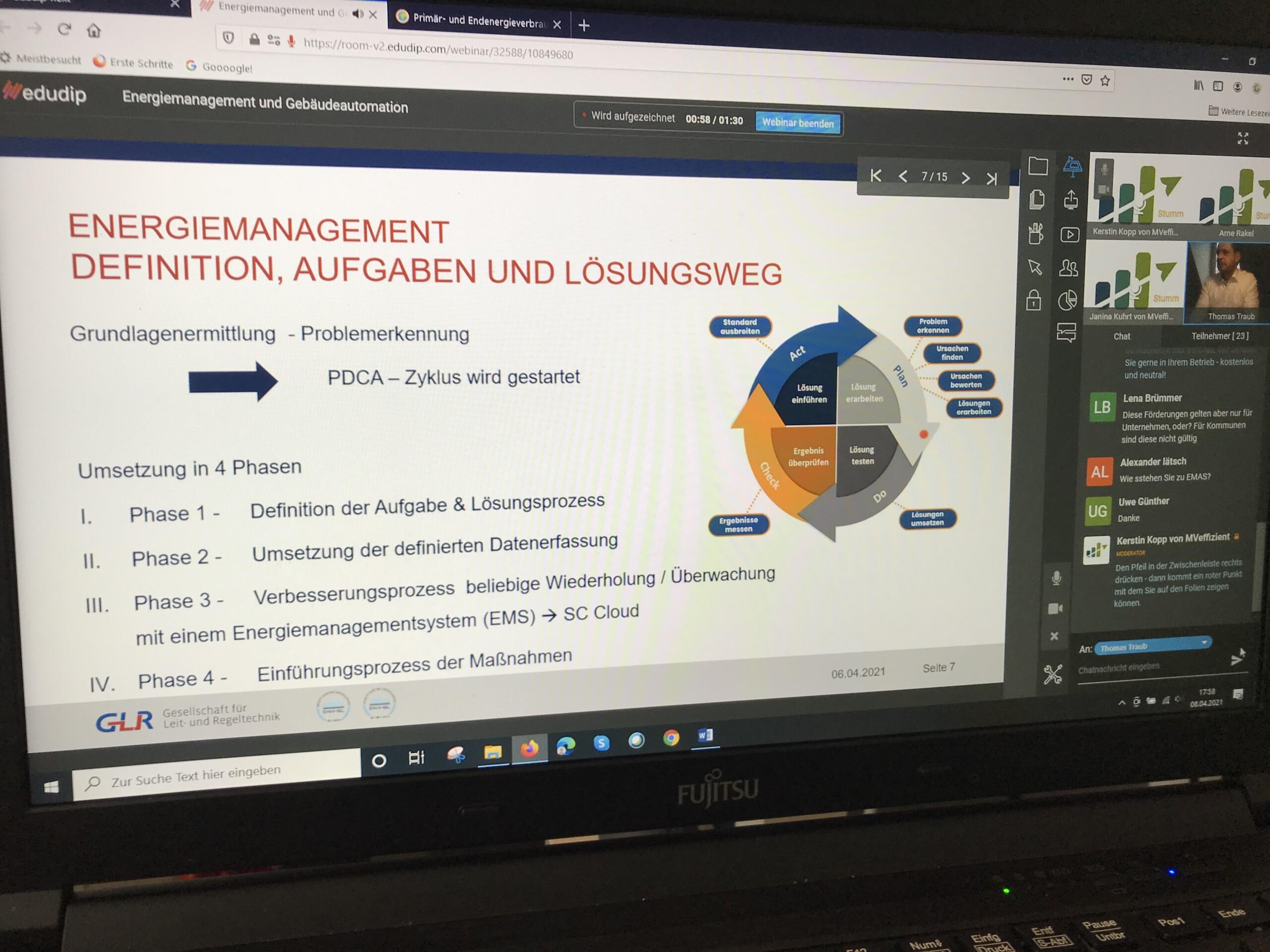 BU: Der MVeffizient-Onlinestammtisch zeigt den Nutzen von Energiemanagement und Gebäudeautomation (Foto: LEKA MV).